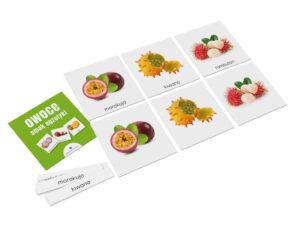 karty edukacyjne Montessori owoce