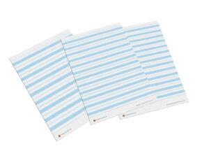 liniatura Montessori materiał niebieski
