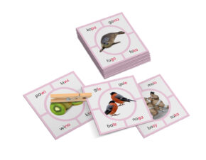 karty Montessori sylaby nauka czytania