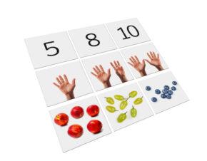 karty Montessori cyfry matematyka