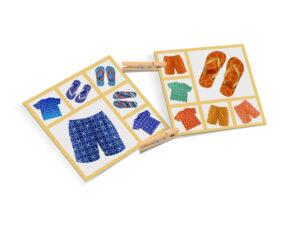 karty Montessori klamerki ubrania