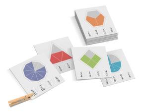 karty montessori matematyka ułamki