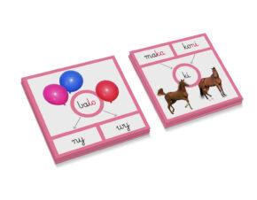 karty Montessori nauka czytania