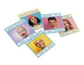 karty Montessori Emocje klamerki