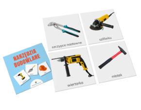 karty trójdzielne Montessori narzędzia