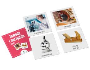 Karty Montessori zawody narzędzia