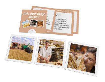 karty Montessori jak powstaje chleb