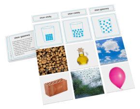 karty Montessori stany skupienia materii