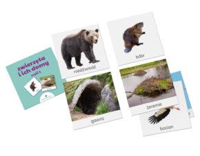 karty Montessori zwierzęta i domy