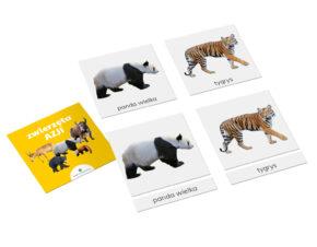 karty trójdzielne Montessori zwierzęta Azji