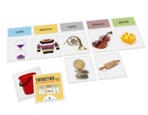 karty Montessori tworzywa